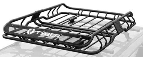 Tyger Heavy Duty Roof Mounted Cargo Basket Rack