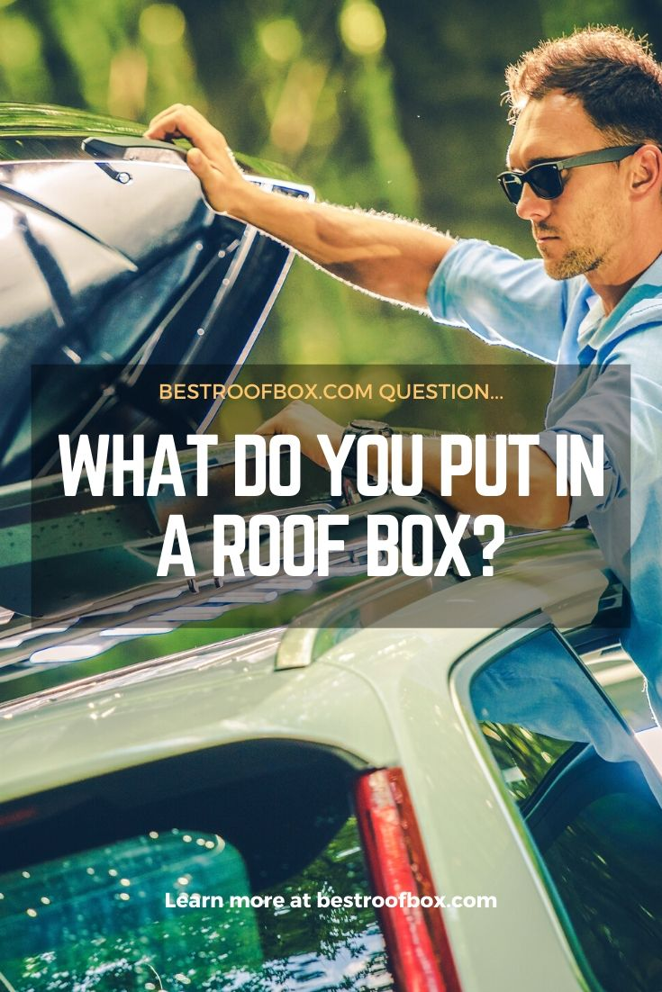 What do you put in a roof box pin