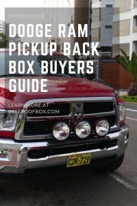 Dodge Ram Pickup Back Box Buyers Guide Pin