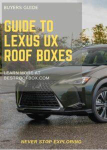 Lexus UX Roof Box Buyers Pin