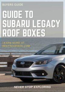 Subaru Legacy Roof Box Buyers Guide Pin