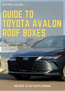 Toyota Avalon Roof Box Buyers Guide Pin
